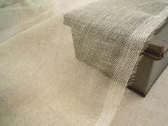 広幅国産ざっくり織り リネンガーゼ《生成り》■ストールにおすすめ!ざっくりと織られた、透け...