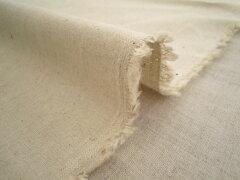綿麻 キャンバス地 無地《生成り》■コットン&リネン生地ナチュラルな色合いの生成り色ですので幅…