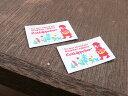 Pres-deオリジナル 赤ずきんちゃん柄タグ 2枚セット■ハンドメイド作品のワンポイントのラベル...