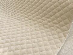 コットン&リネン 小キルティング《生成り》 ■綿麻キャンバス地にキルティング加工をしました...