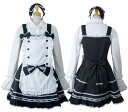 【ハロウィン】【ロリィタ】【ゴスロリ】+G.L.P8036黒白エプロン付きジャンパースカートSET