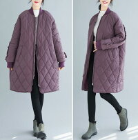 キルティング中綿コート中綿コートキルティングカーディガンレディースアウターキルティングロングコートロングミディアムカジュアル軽い暖かいゆったり大きいサイズL2L