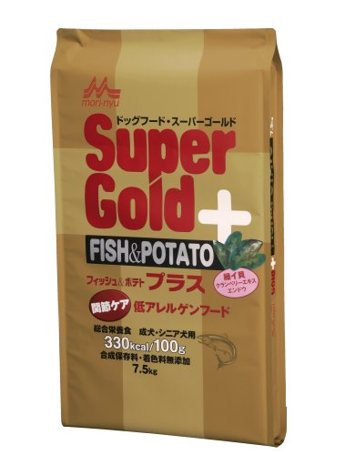 【スーパーゴールド ドッグ】フィッシュ&ポテト プラス関節ケア用 7.5kg【10P05Nov16】