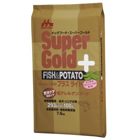 【スーパーゴールド ドッグ】フィッシュ&ポテト プラスライト肥満・関節ケア用 7.5kg【10P05Nov16】