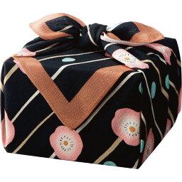 「幸せの宝箱」二段重ね ちりめん風呂敷包み (OJYU-SHU50MBLK(M)) [キャンセル・変更・返品不可]