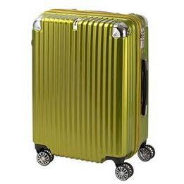 協和 TRAVELIST(トラベリスト) スーツケース ストリークII ジッパーハード Mサイズ TL-14 ライムヘアライン・76-20227 [ラッピング不可][代引不可][同梱不可]