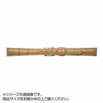 MIMOSA(ミモザ) 時計バンド SY型押ワニ 18mm キャラメル (美錠:銀) CSY-CM18