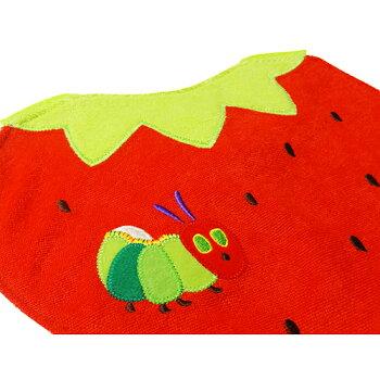 はらぺこあおむしスタイイチゴ11520エリックカールエプロン前かけベビー赤ちゃんベビーグッズキャラクター雑貨グッズギフトプレゼント誕生日お祝い出産祝い送料込みメール便配送