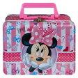 ミニー ティンボックス リボン柄 11698 Disney ミニーマウス 缶 ティン BOX 箱 ゆうパケット不可