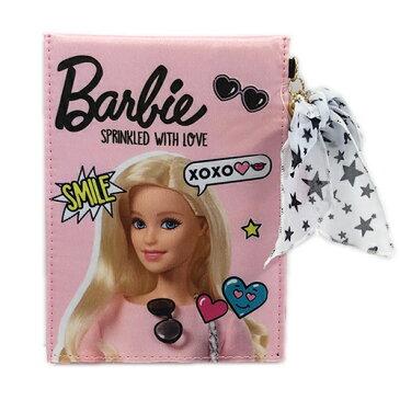 バービー Barbie 雑貨 折り畳みミラー ライトピンク メール便配送 鏡 スタンドミラー メイク かわいい キャラクター グッズ 雑貨 かがみ 折りたたみ 13373