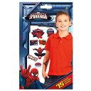 スパイダーマン SPIDER-MAN 75 タトゥーシール メール便配送 アメコミ マーベル 男の子 ボディステッカー グッズ タトゥーステッカー タトゥシール 子供会 景品 タトゥステッカー 12880
