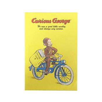おさるのジョージクリスマスポストカード(リース)300fCuriousGeorgeキュリアスジョージ輸入クリスマスカードx'maschristmasかわいいキャラクターグッズ送料無料メール便配送