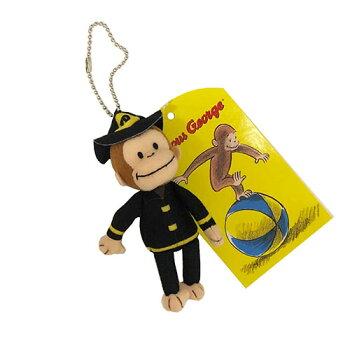 おさるのジョージぬいぐるみキーホルダーマスコットバッグ11934CuriousGeorgeキュリアスジョージ人形フィギュアギフトプレゼント誕生日かわいいキャラクター雑貨グッズメール便不可