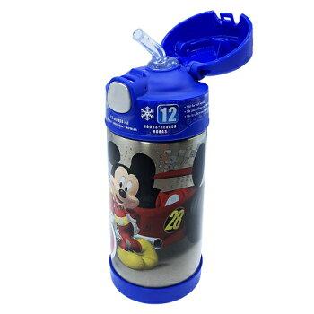 ミッキーマウス水筒サーモスストローボトルブルー13652THERMOS保冷ステンレスすいとう青ディズニーDisneyミッキーMickeyフックハンドル子供子どもこどもキッズ男の子女の子キャラクターグッズメール便不可