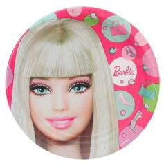 バービー Barbie ペーパープレートL amscan 【インポート 輸入 パーティーグッズ…