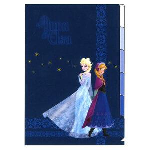 アナと雪の女王のクリアファイルですアナと雪の女王 5Pクリアファイル ネイビー【エルサ FRO...