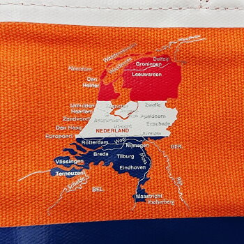 Bandiera(バンディエラ)ミニトートバッグオランダ12733NETHERLANDランチトート鞄かばん袋国旗地図Map帆布ToteBagサブバックランチバックマチあり雑貨グッズ送料込みメール便配送