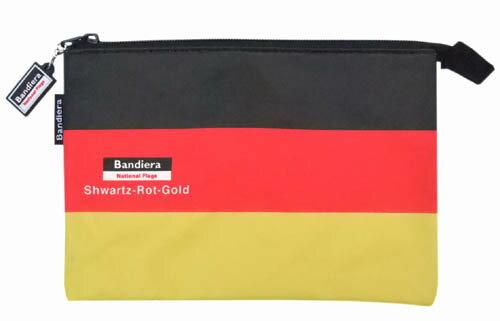 Bandiera(バンディエラ)ナショナルフラッグフラットポーチドイツGermany6319ドイツ国旗地図送料込みメール便配送【ds】