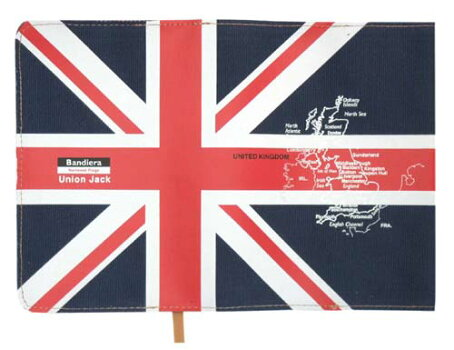 Bandiera(バンディエラ)ブックカバー文庫版UKイギリスユニオンジャック国旗地図雑貨グッズ送料込みメール便配送【ds】