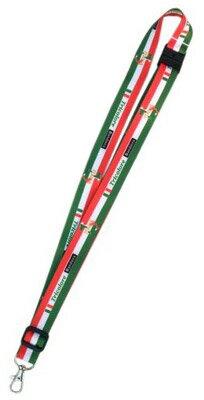 Bandiera(バンディエラ)ネックストラップイタリア8466NECKSTRAPイタリア国旗トリコローレItariaitalyTricoloreランヤード長さ調整可能大人子供子どもこどもキッズ雑貨グッズメール便可