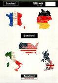 Bandiera(バンディエラ)  ミニステッカーセットL 国旗 地図 シール デカール グッズ 雑貨 ゆうパケット可