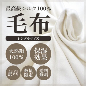 【送料無料】【あす楽】シルク毛布 絹毛布!天然絹100%のシルク毛布絹毛布(シングル)がちょっ...