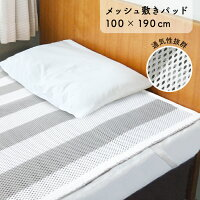 立体メッシュ敷きパッド敷きパッドメッシュ通気性3D立体綿体圧分散マットシングル水洗い丸洗い敷布団寝具エアリー100×190さらさら3Dメッシュ速乾