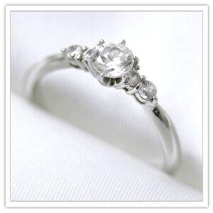 【プラチナ】ダイヤモンド計0.46ct永遠に輝くエンゲージリング【Pt950】【ダイヤ】【婚約指輪】】【レディース】【6~15号】