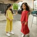 韓国子ども服韓国子供服セットアップ女の子おしゃれ上下セットアップ着心地良いキッズ110120130140150160cm春夏新作シンプル