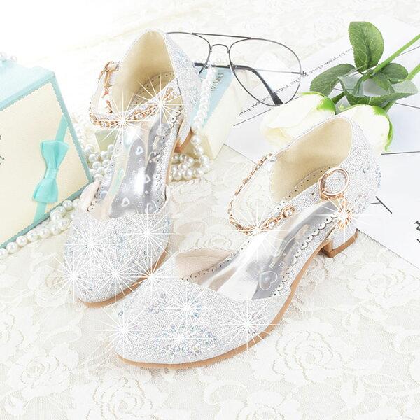 e6391e2c8 キッズ フォーマルシューズ シルバー 子供 靴 キラキラ シューズ フォーマル 靴 女の子 靴 子供靴 入学式 結婚式 ピアノ発表会 靴