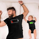 親子 ペアルック 赤ちゃん ロンパース パパ ママ お揃い 服 リンクコーデ 親子 ペア カップル ペアルック tシャツ 親子ペア 男の子 女の子 パパ ペアtシャツ リンクコーデ 親子 セット 父の日 ギフト プレゼント・・・