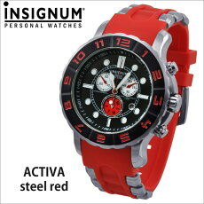 【INSIGNUM】インシグナムドイツメンズ腕時計Activasteelredレッド