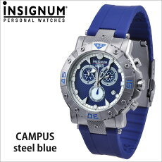 【INSIGNUM】インシグナムドイツメンズ腕時計Campussteelblueブルー【送料無料】