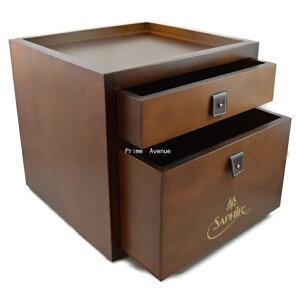 靴磨きアイテム収納ボックスSaphirNoir(サフィールノワール)ドローワーボックス【楽ギフ…