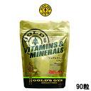 ゴールドジム マルチビタミン&ミネラル 90粒 GOLD'S GYM マルチビタミン ビタミン ミネラル サプリメント トレーニング 栄養 『0』【 定形外 送料無料 】【倉庫A】