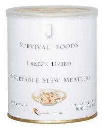 送料無料 サバイバルフーズファミリーセット クラッカー3缶&野菜シチュー3缶 小缶(約15食)【非常食 長期保存食】