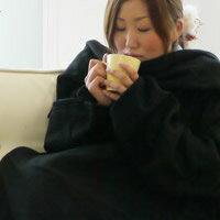 ほっこりタイムに くるまって幸せ♪着る毛布「スナギー」 ブラック【RCP】