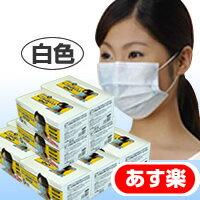送料無料 あす楽 使い捨てタイプ。不織布のマスクです。たっぷり10箱!町内会の掃除・会社の大...