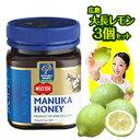 送料無料 ニュージーランド マヌカヘルス社製のマヌカ蜂蜜。当店で一番MGOが高いMGO550+の蜂蜜に有機栽培のレモン3個をプラスしました。はちみつレモン、レモン鍋に 低農薬です送料無料 大長レモン(おおちょうレモン)3個+マヌカハニー MGO 550+ (UMF25+相当) 250g 有機栽培の広島産レモン 蜂蜜レモン、レモン鍋に 低農薬れもん 5/10頃入荷予定【RCP】