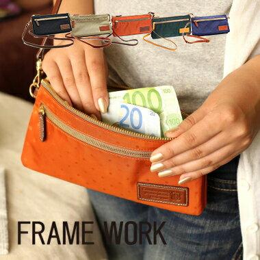 ナイロン製で軽い、お財布ポシェット スマホも小物も収納OK
