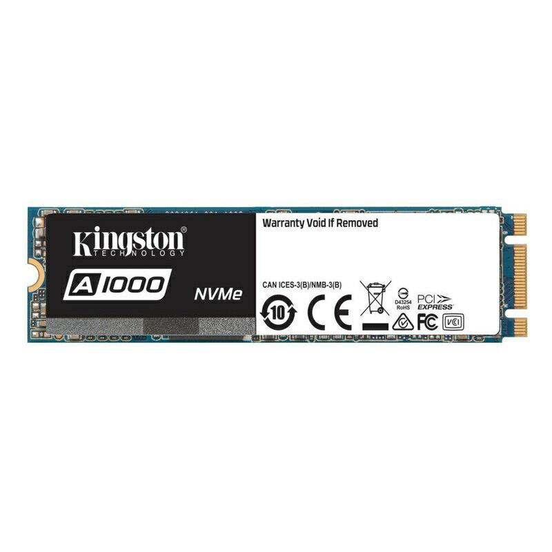 【メーカー取り寄せ】(在庫限り)キングストンSSDドライブA1000SSDM.2(2280)ケースレス480GBPCIeNVMeGen3.0x2SA1000M8/480G