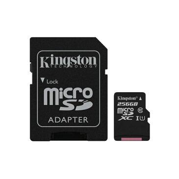 【処分特価】キングストン microSDXCカード Canvas Select Class10 UHS-I(U1) 256GB SDCS/256GB カードアダプタ付