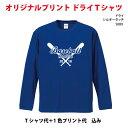 オリジナルプリントTシャツ/オーダーメイド/安い/20-29枚1色プリント込4.7oz長袖Tシャツ5089