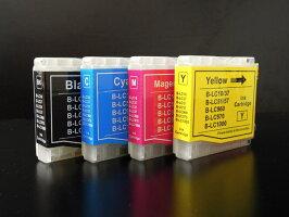 LC10-4PKブラザー用LC10互換インクカートリッジ4色セット【メール便送料無料】-画像1
