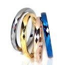 リング 指輪 タングステン 2mm ミラーカット 選べる4色 2本セット レーザー刻印付き ペアリング ピンキーリング レディース メンズ 細身 シンプル 送料無料 2