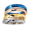 リング 指輪 タングステン 2mm ミラーカット 選べる4色 2本セット レーザー刻印付き ペアリング ピンキーリング レディース メンズ 細身 シンプル 送料無料 3