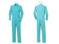つなぎ作業着ツナギ衣装ダンスオーバーオールオールインワン長袖/メンズレディース/SS6Lまで綿100%20色から選べるカラフルな色展開!