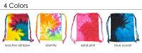 タイダイナップサック/タイダイ柄手染め染模様/ヒッピーフェス/バッグ/ユニセックス/メンズファッション/colortone