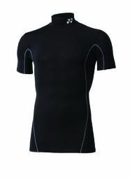 YONEX バドミントン アンダーウェアユニ ハイネック半袖シャツ フィットネスモデル STB-F1007