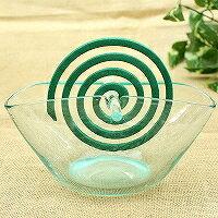 ガラスで出来た蚊取り線香ホルダー